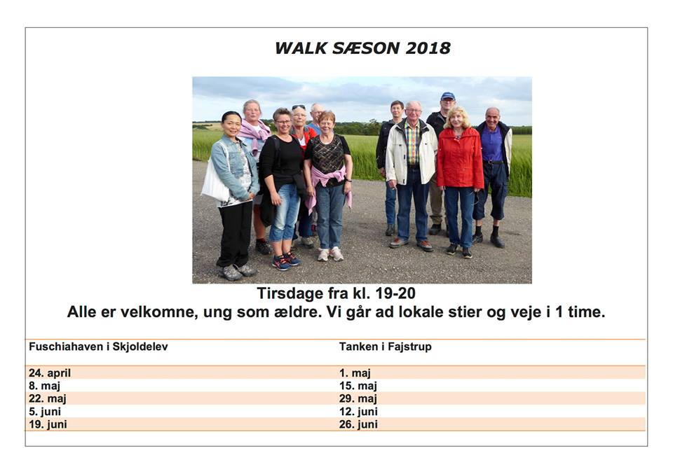 Walk 2018 – Link til Sundhedsambassadør på Facebook